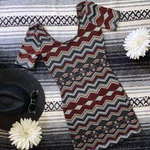 🏜 Chevron Bodycon Dress